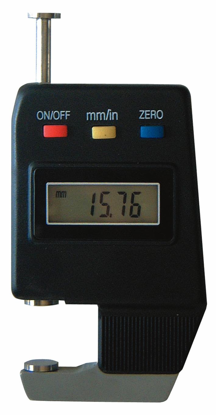 Digital-Dicken-Messgerät, mit Teller, Ausladung 15 mm