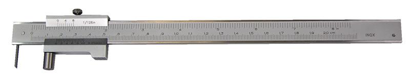 Anreiß-Messschieber mit Rolle, 200 mm