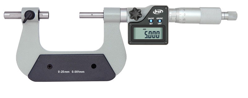 Bügelmessschraube, Typ M119, Digital IP 65, Messbereich 125 - 150 mm