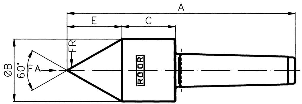 Type E-B, pipe nose 60° - MT 5, SU