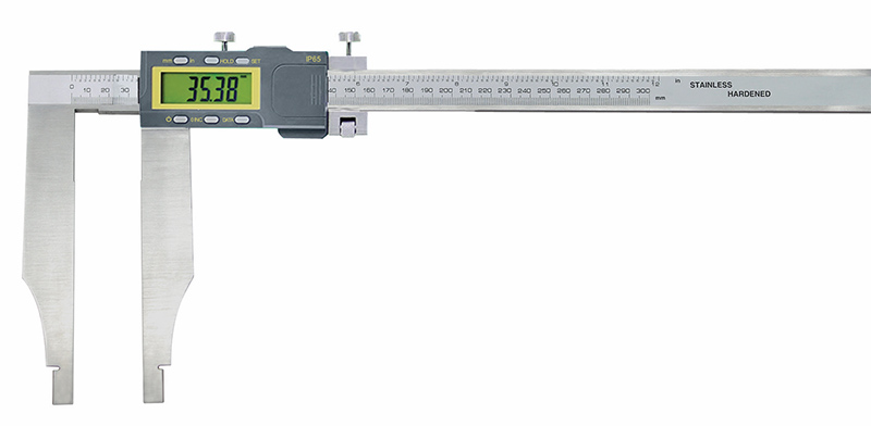 Digital control caliper with inductiv measuring system