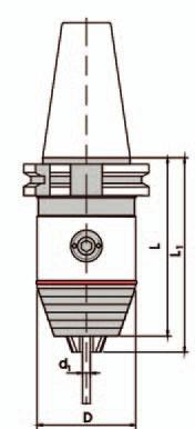 Kurzbohrfutter DIN 69871 - Standard, SK45 0,5-13mm