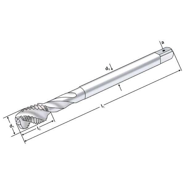 M3 5 4x3 P=0 6 | HSS-E spiral flute tap