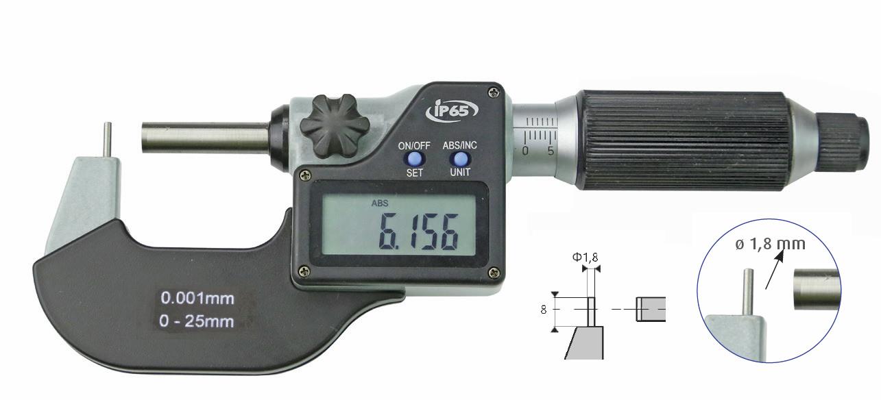 Digitale Rohrwanddicken-Messschraube, IP 65