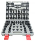 Clamping sets, 58 pcs., in plastic case