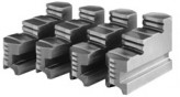 Hardened reversible stepped jaws, d=100 mm