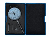 Dial indicator 30 mm with extension and disc tip, ø 10 mm, reading 0,01 mm