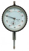 Precision dial indicator, DIN 878, range 10 mm, shaft and contactpoints INOX-steel