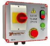 Safety switch control with voltage warning light (400V)