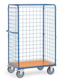 Parcel carts with double wing doors