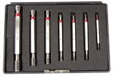 Limit-thread plug gauges-set of 7 pc., ISO thread
