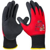 NFT® nitrile foam glove red / black